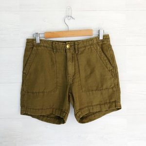 Free People Olive Green Shorts